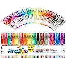 amazapens Gel Pennarelli, 40pezzi super glitter, 150% più inchiostro di altri Set, ideale per aggiungere luccichio a libri da colorare per adulti e progetti d