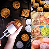 KING DO WAY Mooncake Biscuit Cookies Baking mold mould Flowers+patterns Hand Pressure 75g 8 stamps