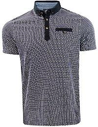 1f4e0c11ef Genetic Apparel Mens Printed Polo Collar Fashion T-Shirt Top