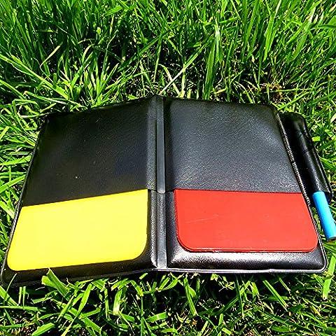 MaMaison007 Rojo y amarillo de campeón de fútbol tarjeta árbitro ADVERTENCIA tarjetas récord de partido fútbol