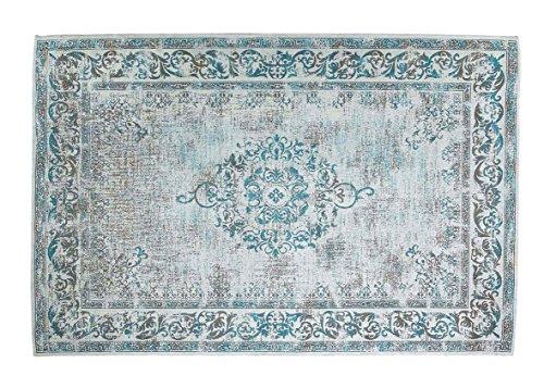 Grün Deko-Vintage Baumwolle Chenille Azure Blau Teppich, 160x 240cm -