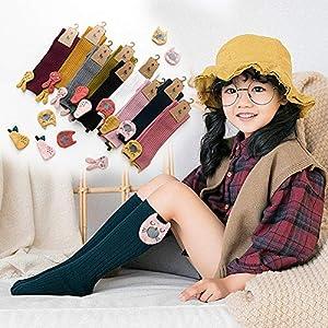 RUOHAN Kinder Socken 5 Paar Kindersocken Florsocken Kindersocken Baumwoll-Kindersocken Herbst Und Winter Mädchen In Strümpfen Babysocken