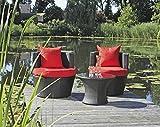 Garden Pleasure Club Set Sitzgruppe Garten Sessel Lounge Stuhl Tisch Rattan Optik