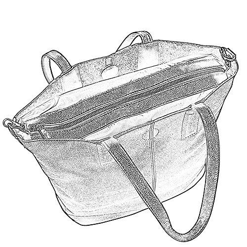 Damero Damen Ledertasche Handtasche Schultertasche mit abnehmbarem Futter, Braun Braun
