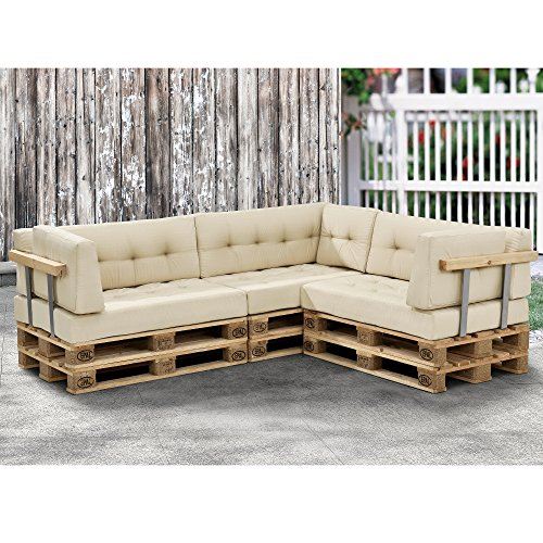 1x coj n de respaldo para sof de pal s beige for Cojin sofa exterior