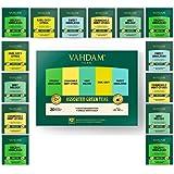 VAHDAM, Assortimento di tè verde 5 tè, 4 bustine di tè piramide ciascuno | Himalayan, Mint Melody, Camomilla Mint Citrus, Ear