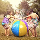#3: Climberty Ultimate Beach Ball Sprinkler Outdoor Colorful Water Spray Ball Outdoor Swimming Pool Beach Use