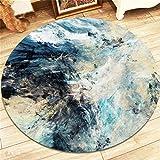 QXJPZ Kreative Mode Teppich Teppich für Wohnzimmer Schlafzimmer Nachtdecke Couchtisch Korb Stuhl Kissen (Farbe : B, größe : Diameter 200cm)