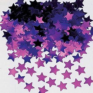 Gifts 4 All Occasions Limited SHATCHI-610 - Confeti de mesa (14 g, 5 unidades), diseño de estrellas, color morado