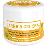Arnica Gel per cavalli uso umano concentrata al 95% - 500 ml - Gel lenitivo con Arnica Montana, Olio di Buriti, estratti…
