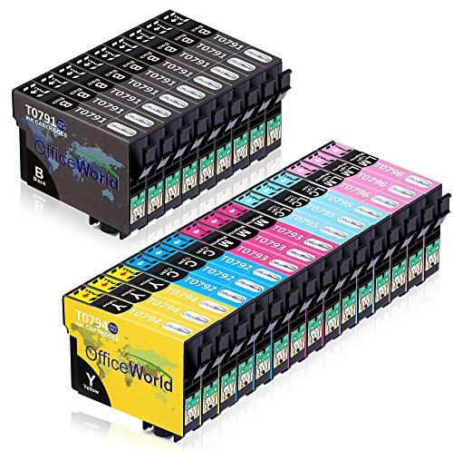 OfficeWorld Ersatz für Epson T0791-T0796 Patronen T079 Druckerpatronen Kompatibel für Epson Stylus Photo 1400 1500W P50 PX650 PX660 PX700W PX710W PX720WD PX730WD PX800FW PX810FW, Epson Artisan 1430 -