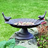 Cast Iron Love Birds Bird Bath 18cm - Welcome...