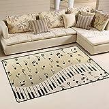 BENNIGIRY Musik Notizen Rutschfeste Bereich Teppich Pad Teppichunterlage für Harte Böden, Rutschfeste Teppich Matte Teppich Untergrund für Wohnzimmer Schlafzimmer 80x 50cm (78,7x 50,8cm)