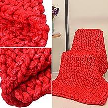 Hilo de aire acondicionado de manta colcha sofá Blanke Chunky Knit hecha a mano muy grande