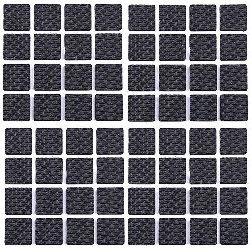 64 Stück 20mm Quadratisch Möbel Pads, WCIC Möbel Greifer EVA Anti Rutsch Matte schützen für Boden Harte Oberflächen vor Kratzern (Hartholz-fußboden-matte Stuhl)
