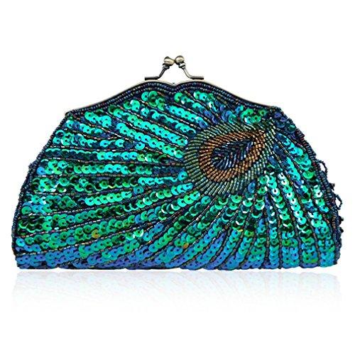 Pailletten-hobo Handtasche (YAN Damentaschen Abendtasche Sicke Elegante Perlen Pailletten Clutch Handtasche Handheld Tasche Hochzeit Abendgesellschaft Prom Handtasche Mode Tasche (Style : 1))