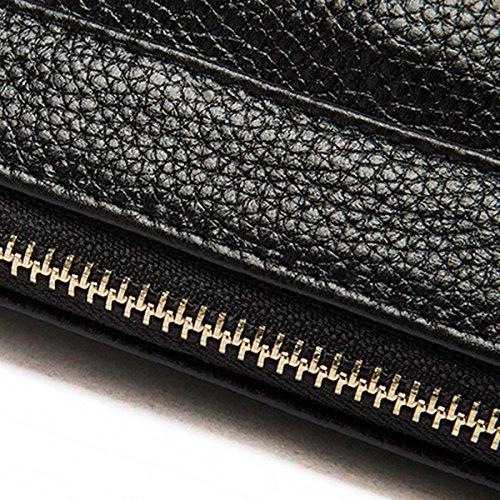 Frau Einfach Mode Schulter Diagonale tragbar Tasche Handtasche Schwarz