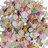 Chenkou Craft, perles demi-rondes, plates, à dos plat, gemmes, en vrac, mix 100G