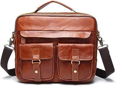 Laptop Messenger Bag Color : C3, Size : 32x26x9cm Mens Briefcase Crazy Horse Leather Retro Leather Mens Bag Business Fashion 12 Laptop Tote Bag