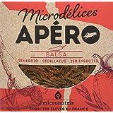 Microdélices Insectes Comestibles Apéro 250 Salsa Mélange de Grillons/Vers de Farine 10 g -
