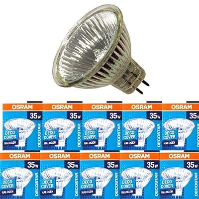 10 Stck Osram Decostar51 Halogen Kaltlichtspiegellampe 44865 Wfl Gu53 12volt 35watt 36grad von Osram