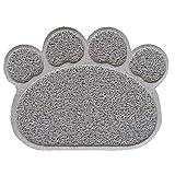 Go_believe Haustier-Unterlage, rutschfeste Fußabdrücke, für Katzen, Hunde, Sandfarben, wasserfest Einheitsgröße grau