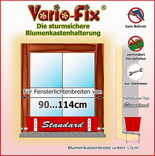 Vario-Fix Standard Haltebügel für 12cm Blumenkasten mit 90cm Spannstange