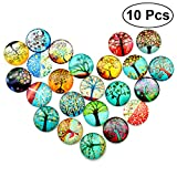 ultnice Glas Mosaik Supplies gemischt rund Mosaik Basteln für Schmuckherstellung 12mm 100