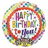 Amscan 2686901 Folienballon Sing-A-Tune Happy Birthday