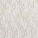 Fabulous Fabrics Spitze Transparente Pailletten – Weiss — Meterware ab 0,5m — zum Nähen von Brautmode, Abend- und Partymode und Accessoires