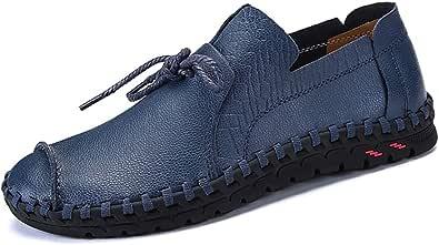 YU Scarpe da guida da uomo Slip on casual in pelle mocassini Scarpe comode leggere scarpe a punta rotonda per lavoro formale aziendale