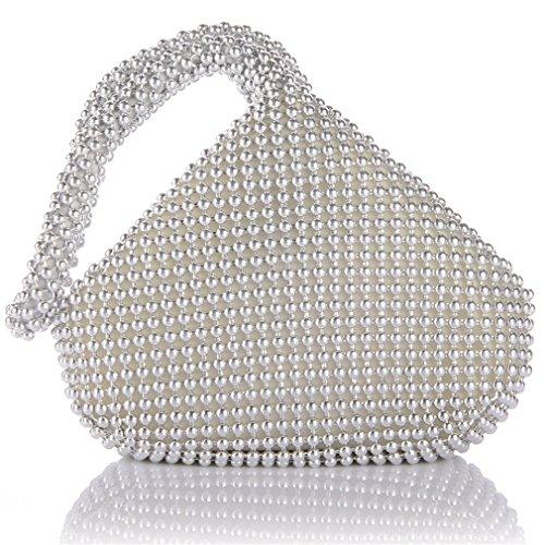 ERGEOB® Donna Clutch Kreatives Design diamante/aluminium borsetta sacchetto di sera triedro Festa taschino Aluminium argento