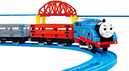 Jack Royal Plastic Adventure Train and Track Set with Battery Engine and Cave, 599g (Multicolour)