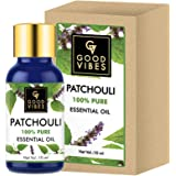Good Vibes 100% Pure Patchouli Essential Oil - 10 ml - Aids in Cell Regeneration, Soothes and Calms Skin, Strengthens Hair Fo