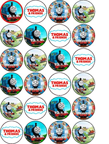 Dynamite image with free printable thomas the train cup cake toppers