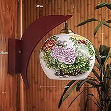 5151BuyWorld estilo simple País pared de la cocina de luz de la lámpara de cerámica de