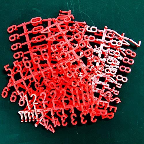 Pegboard Buchstaben - Rot. 19mm hoch.