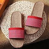 Zapatillas de lujo, zapatillas de lino unisex, zapatos de interior antideslizantes, zapatillas de baño de verano, sandalias de baño antideslizantes, As Picture Show, 6-7 / 245 -250mm