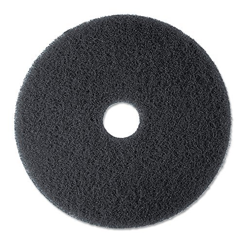 "3M 08375 Low-Speed Stripper Floor Pad 7200, 13"" Diameter, Black, 5/Carton"