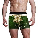 XiangHeFu Slip Boxer da Uomo Art Christmas Balls Stretch Traspirante Mutande