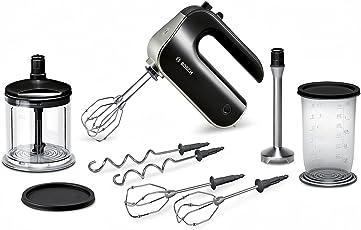 Bosch MFQ4885DE Handrührer-Set (575 W, edelstahl-Mixfuß, XL-Universalzerkleinerer, Mixbecher) schwarz/chrome