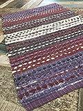 Gringo Lila Weiß Agra Baumwolle Stripe Teppich Fair Trade 75cm x 130cm