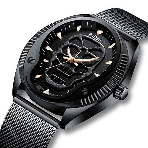 Herren Uhren Luxus Edelstahl Mesh Wasserdichte Uhr Herren Casual Business Designer Analoge Quarz Armbanduhren für Männer Schwarz