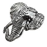 Anillo elefante hecho con placa de lata y aleación de zinc por Joe Cool