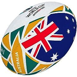 Gilbert Coupe du Monde de Rugby Japon 2019Boule de Drapeau de l'Australie Mini Multicolore