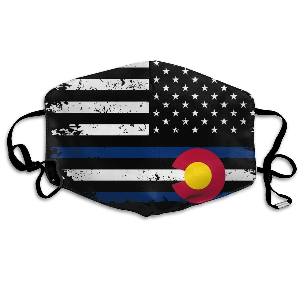 Daawqee Mascarillas, American Colorado Flag Anti-dust Mouth Mask Face Masks Mouth Cover for Man and Woman