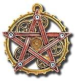 Anne Stokes Penta Meridia Steampunk Pentagrama Cogs Collar Con Colgante