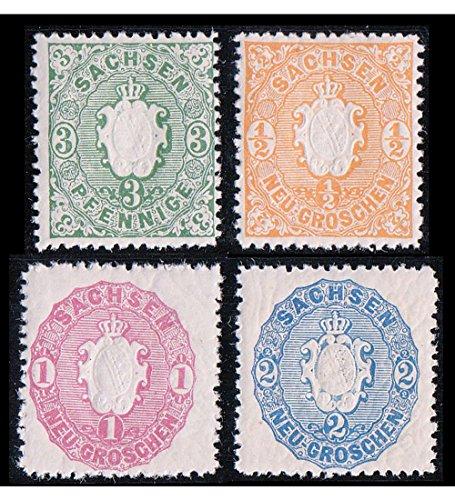 Goldhahn Altdeutschland postfrisch ** mit Sachsen Nr. 14-17 Briefmarken für Sammler