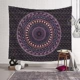 JIAO Tapisserie Tapestry Wand Dekoration 3D Natural Printing Und Färben Indien Böhmischen Indischen Mandala Hippie Tapisserie Bettdecke Tischdecke Picknick Strand Tuch DE