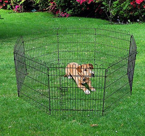 pawhut-recinto-gabbia-per-animali-domestici-in-acciaio-158-x-76cm-nero
